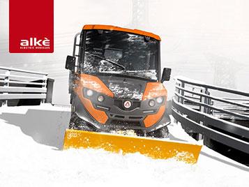 Alke Elektrofahrzeuge - Elektro Traktoren Schneepflüge