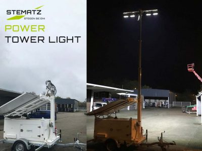 Power Tower Light: Der mobile Lichtmast mit Solarkollektoren im Praxis-Test